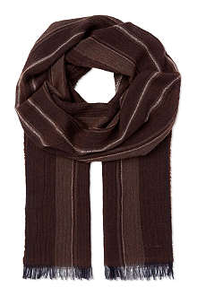 PAUL SMITH Cashmere striped scarf