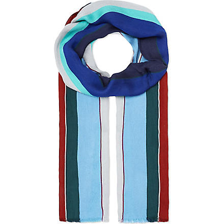 PAUL SMITH Fiocca stripe scarf (Blue