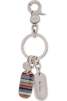 PAUL SMITH Striped tag key ring