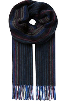 PAUL SMITH ACCESSORIES College stripe scarf