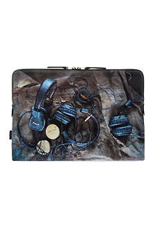 PAUL SMITH ACCESSORIES Headphone Print Laptop Case