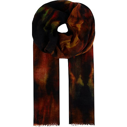 PAUL SMITH ACCESSORIES Flame scarf (Black