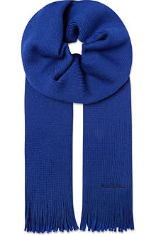 PAUL SMITH ACCESSORIES Plain logo scarf
