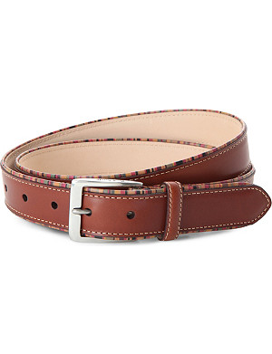 PAUL SMITH ACCESSORIES Multi-striped leather belt