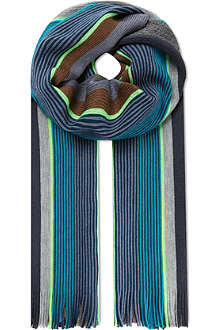 PAUL SMITH ACCESSORIES Neon striped scarf