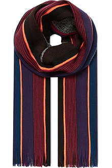 PAUL SMITH ACCESSORIES Neon stripe scarf