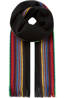 PAUL SMITH ACCESSORIES Reversible striped scarf