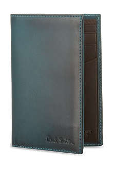 PAUL SMITH ACCESSORIES Burnished leather card case