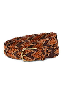 PAUL SMITH ACCESSORIES Leather plait belt