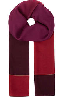 PAUL SMITH ACCESSORIES Degrade Fiocco scarf