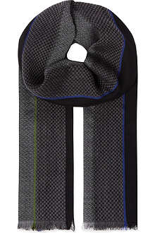PAUL SMITH ACCESSORIES Classic wool block scarf