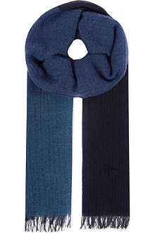 PAUL SMITH ACCESSORIES Cashmere-cotton block scarf