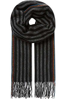 PAUL SMITH ACCESSORIES Striped scarf