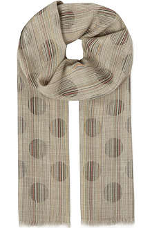 PAUL SMITH ACCESSORIES Polka dot scarf