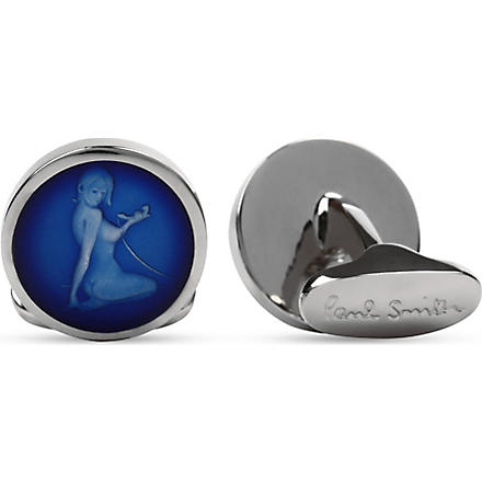 PAUL SMITH ACCESSORIES Naked Lady cufflinks (Blue