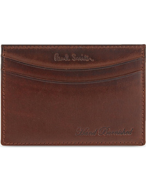 PAUL SMITH ACCESSORIES Burnished leather card holder