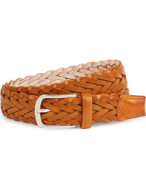 PAUL SMITH ACCESSORIES Woven leather belt