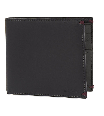 PAUL SMITH Printed card holder (Black