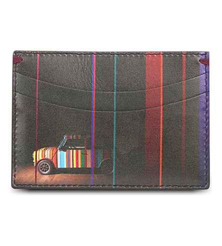 PAUL SMITH ACCESSORIES Classic mini leather card holder (Black