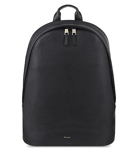 PAUL SMITH ACCESSORIES City webbing leather backpack (Black