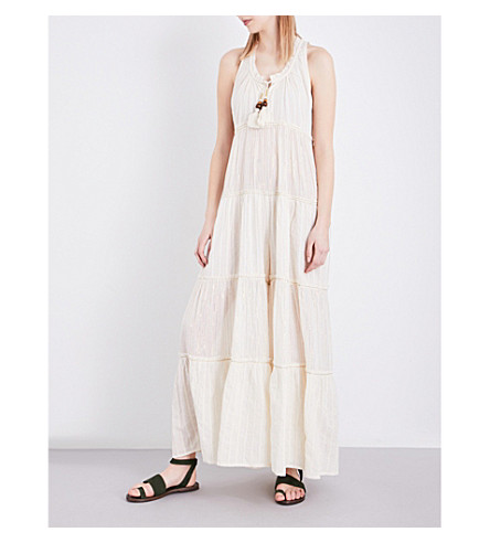 FREE PEOPLE Beach Bum cotton-blend jumpsuit (Ivory