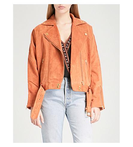 FREE PEOPLE Drapey suede jacket (Bronze