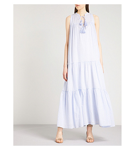 FREE PEOPLE River Gorge striped cotton dress (Blue+combo