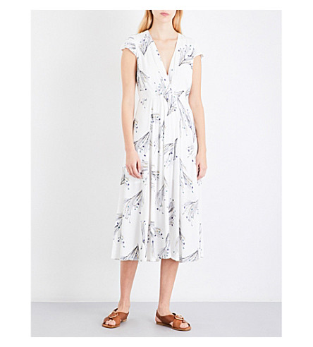 FREE PEOPLE Floral-print midi dress (Ivory