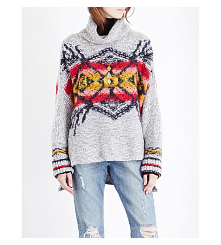 FREE PEOPLE Arctic Blast knitted jumper (Grey combo