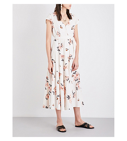 FREE PEOPLE All I got crepe dress (Ivory+combo