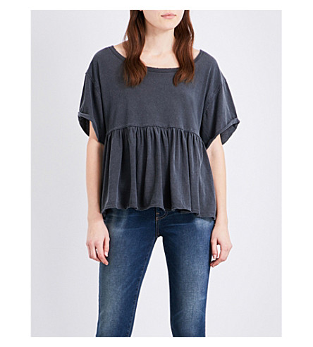 FREE PEOPLE Odyssey cotton-jersey t-shirt (Black
