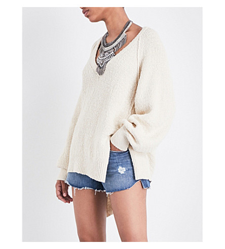 FREE PEOPLE West Coast cotton sweater (Ivory