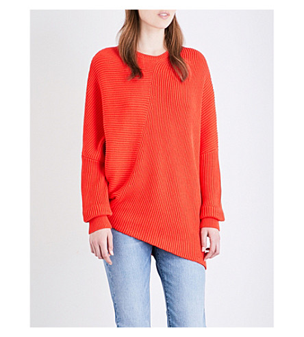 FREE PEOPLE Downton knitted jumper (Coral