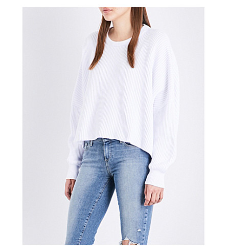 FREE PEOPLE Festival Pier cotton jumper (White