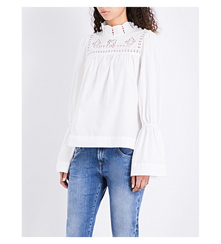 FREE PEOPLE Another Eternity cotton-poplin top (Ivory