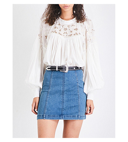 FREE PEOPLE Have It My Way voile top (Ivory