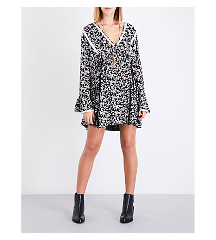 FREE PEOPLE Like You Best gauze dress (Black