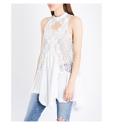 FREE PEOPLE Tell Tale Heart lace top (Ivory