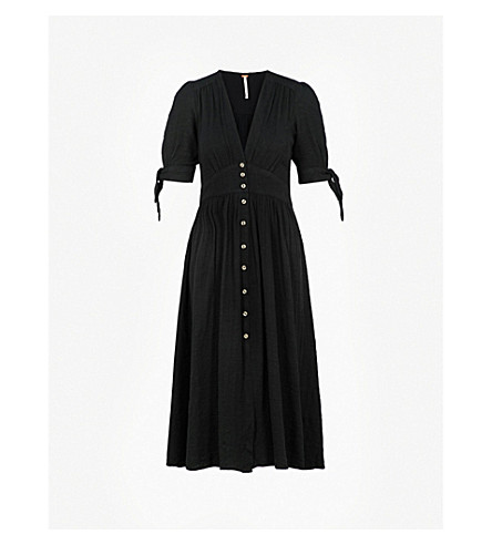 FREE PEOPLE Love of My Life cotton dress (Black