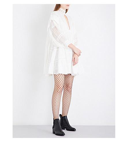 FREE PEOPLE Heartbreaker cotton mini dress (Ivory