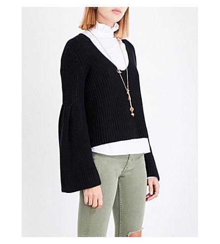 FREE PEOPLE Damsel knitted jumper (Black