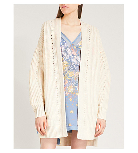 FREE PEOPLE Nightingale cotton-blend cardigan (Ivory