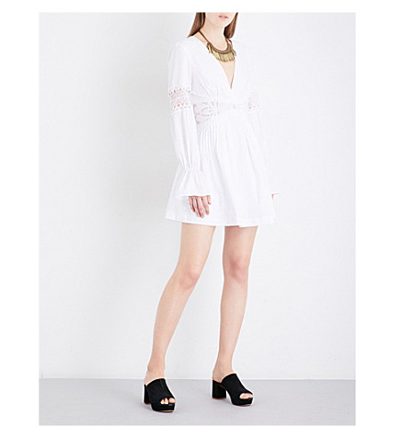 FREE PEOPLE Lindsey Mini crepe dress (White