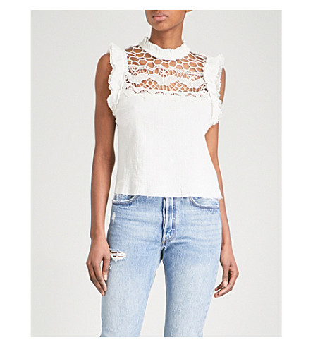FREE PEOPLE Simply Smiles cotton top (Ivory