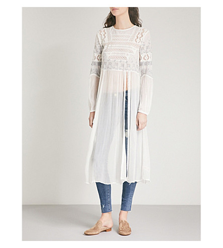 FREE PEOPLE Sweet Sunny Days gauze tunic (Ivory