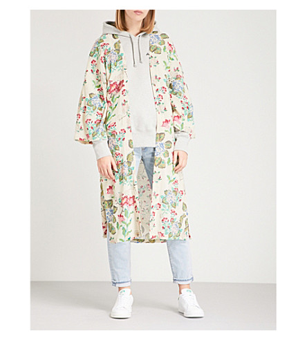 FREE PEOPLE Latimer floral cotton kimono (Neutral+combo