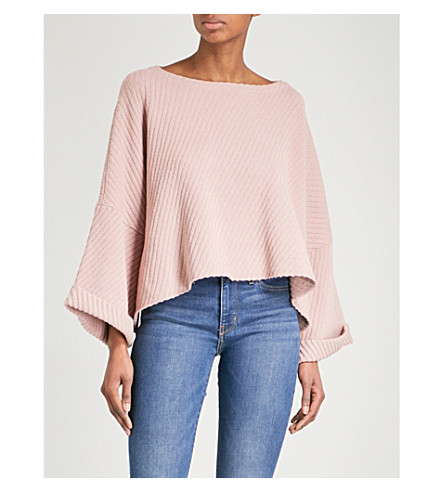 FREE PEOPLE I Can't Wait cotton-blend sweatshirt (Rose
