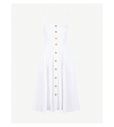 FREE PEOPLE Perfect Peach cotton-poplin midi dress (White
