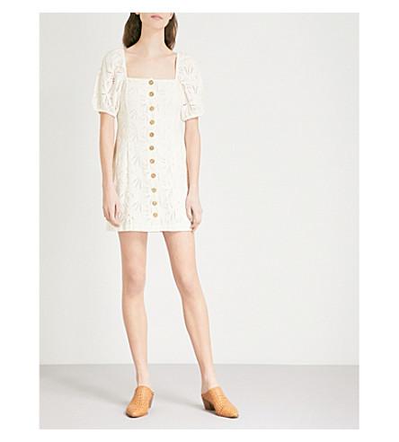 FREE PEOPLE Daniella embroidered-lace cotton dress (Cream