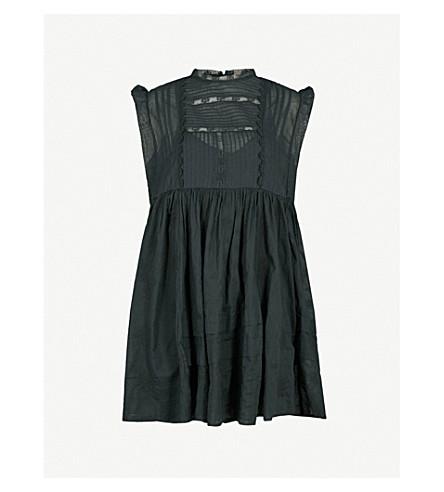 FREE PEOPLE Nobody Like You ruffled cotton dress (Black